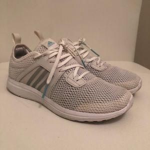 Adidas White cloud-foam walking sport sneakers